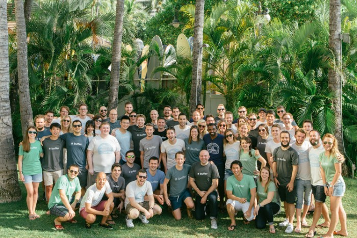 Employees of Buffer, a San Francisco startup